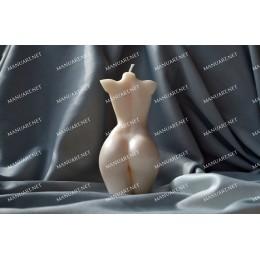 Forma silikonowa - Szczupły żeński tors z małą klatką piersiową 3D - do wyrobu mydła, świec i odlewów