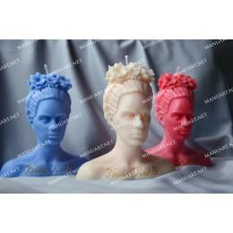 Forma silikonowa - Popiersie Frida Kahlo 3D - do wyrobu mydła, świec i odlewów