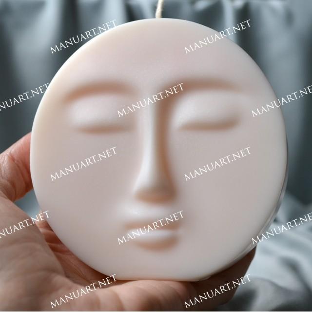 Forma silikonowa - Księżyc twarz 3D - do wyrobu mydła, świec i odlewów