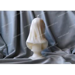 Forma silikonowa - Błogosławiona Maryja Dziewica w welonie 3D - do wyrobu mydła, świec i odlewów