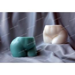 Forma silikonowa - Damska pełna pupa 3D - do wyrobu mydła, świec i odlewów