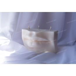 Forma silikonowa - Duże usta Dawida 3D - do wyrobu mydła, świec i odlewów