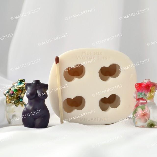 Forma silikonowa - Super Mini akt kobiety Plus rozmiar 3D - do wyrobu mydła, świec i odlewów