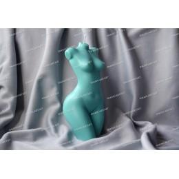 Forma silikonowa - Duży szczupły żeński tors z małą klatką piersiową 3D - do wyrobu mydła, świec i odlewów