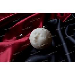 Forma silikonowa - Pełnia księżyca z twarzą i kraterami 3D - do wyrobu mydła, świec i odlewów