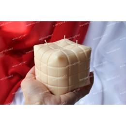 Forma silikonowa - Duża PUFA kostka 3D - do wyrobu mydła, świec i odlewów