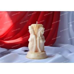 Forma silikonowa - Potrójna Bogini 3D - do wyrobu mydła, świec i odlewów