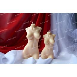 Forma silikonowa - Duży tors kobiety 3D - do wyrobu mydła, świec i odlewów