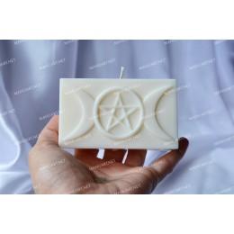 Forma silikonowa - Pentagram 3D - do wyrobu mydła, świec i odlewów