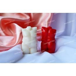 Forma silikonowa - Mini tors puszystego mężczyzny 3D - do wyrobu mydła, świec i odlewów