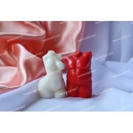 Forma silikonowa - MINI zaokrąglony Tors kobiety 3D - do wyrobu mydła, świec i odlewów