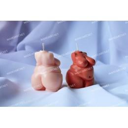 Forma silikonowa - Mini Tors puszystej kobiety 3D - do wyrobu mydła, świec i odlewów