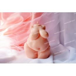 Forma silikonowa - Tors puszystej kobiety 3D - do wyrobu mydła, świec i odlewów