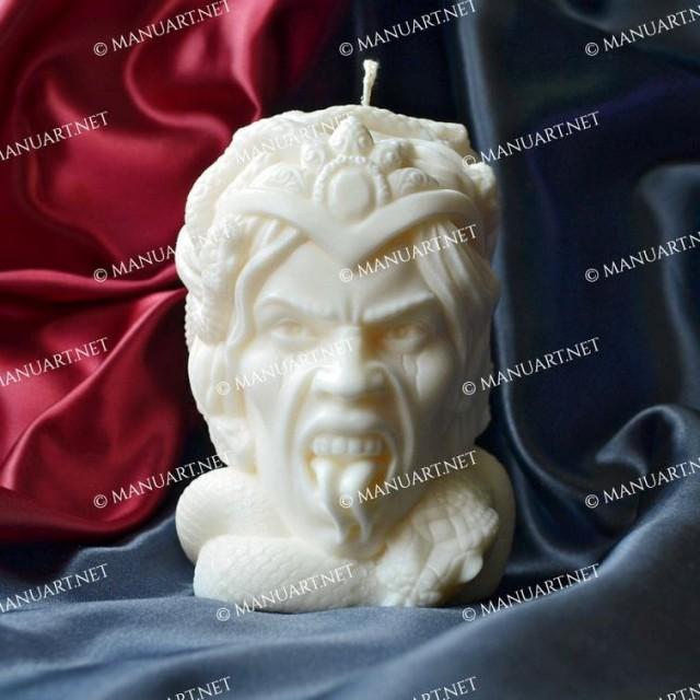 Forma silikonowa - Duża głowa Meduzy Gorgony - do wyrobu mydła, świec i odlewów