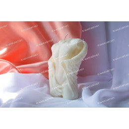 Forma silikonowa - Tu艂贸w m臋偶czyzny ze skrzyd艂ami - do wyrobu myd艂a, 艣wiec i odlew贸w