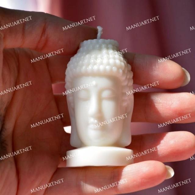 Forma silikonowa - Mała głowa Buddy - do wyrobu mydła, świec i odlewów