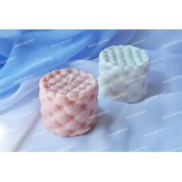 Forma silikonowa - Okrągła tuftowana otomana - do wyrobu mydła, świec i odlewów
