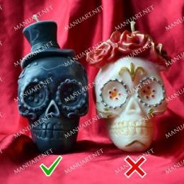 Meksykańska męska czaszka 3D