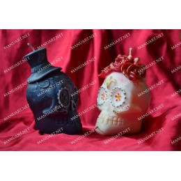 Forma silikonowa - Meksykańska męska czaszka 3D - do wyrobu mydła, świec i odlewów
