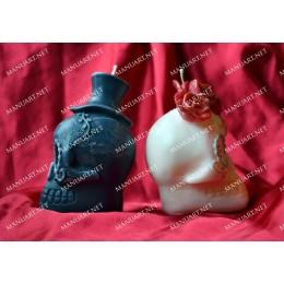 Forma silikonowa - Meksykańska czaszka żeńska 3D - do wyrobu mydła, świec i odlewów