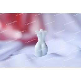 Forma silikonowa - MINI tors kobiety z małym biustem 3D - do wyrobu mydła, świec i odlewów