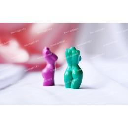 Forma silikonowa - MINI tors kobiety w bikini 3D - do wyrobu mydła, świec i odlewów