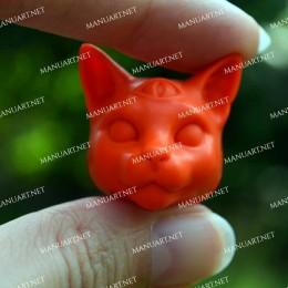 MINI głowa kota mistyczna 3D