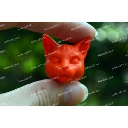 Forma silikonowa - MINI głowa kota mistyczna 3D - do wyrobu mydła, świec i odlewów