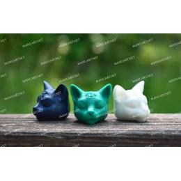 Forma silikonowa - MINI głowa kota Buddy 3D - do wyrobu mydła, świec i odlewów