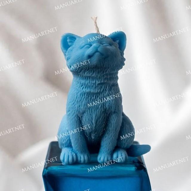 Forma silikonowa - Śliczny mały kotek - do wyrobu mydła, świec i odlewów
