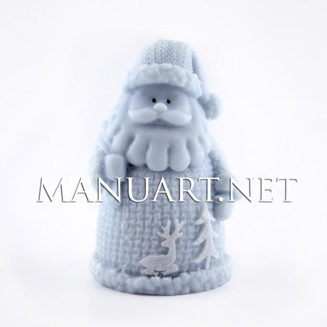 Forma silikonowa - Mały Święty Mikołaj - do wyrobu mydła, świec i odlewów