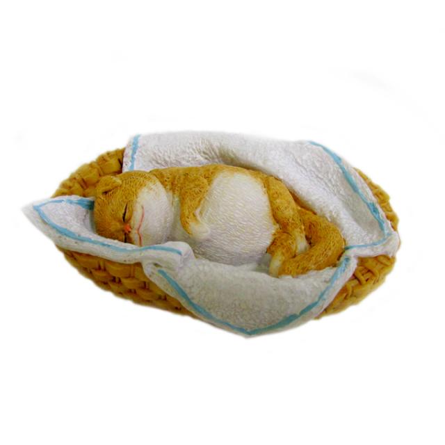 Forma silikonowa - Kot śpi w koszu - do wyrobu mydła, świec i odlewów