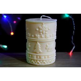 Forma silikonowa - Świąteczna świeca z ornamentem - do wyrobu mydła, świec i odlewów