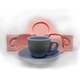 Forma silikonowa - Filiżanka 3D - do wyrobu mydła, świec i odlewów