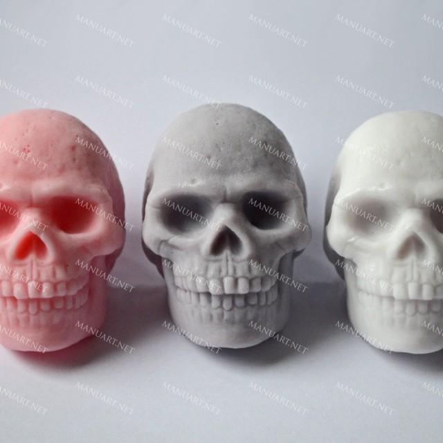 Forma silikonowa - Czaszka 3D - do wyrobu mydła, świec i odlewów