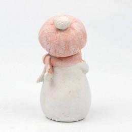 Forma silikonowa - Dziewczyna Bałwan w czapce i szaliku - do wyrobu mydła, świec i odlewów