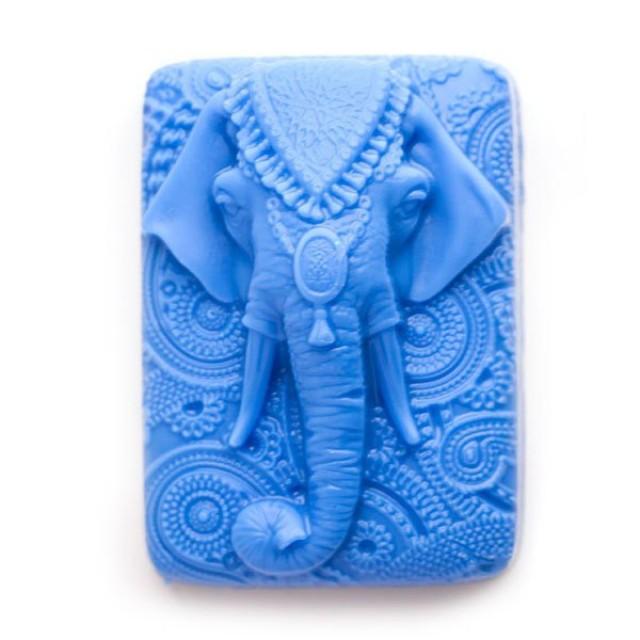 Forma silikonowa - Słoń indyjski - do wyrobu mydła, świec i odlewów