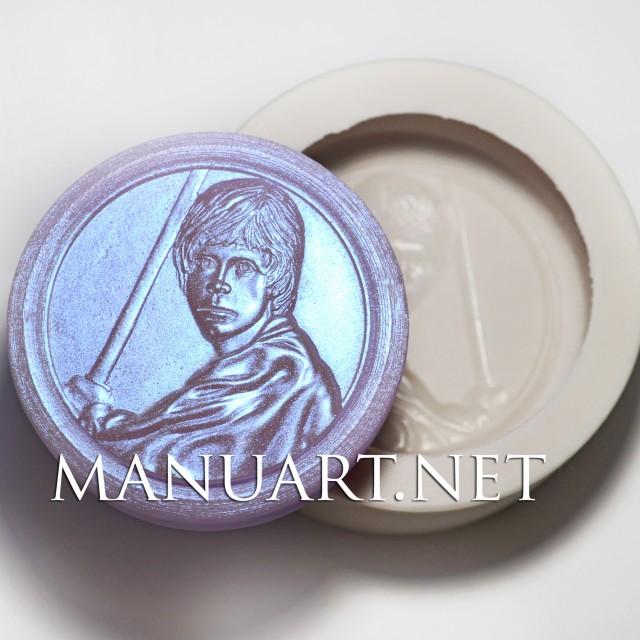 Forma silikonowa - Luke Skywalker - do wyrobu mydła, świec i odlewów