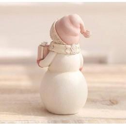 Forma silikonowa - Duży bałwan w czapce i szaliku z prezentem - do wyrobu mydła, świec i odlewów